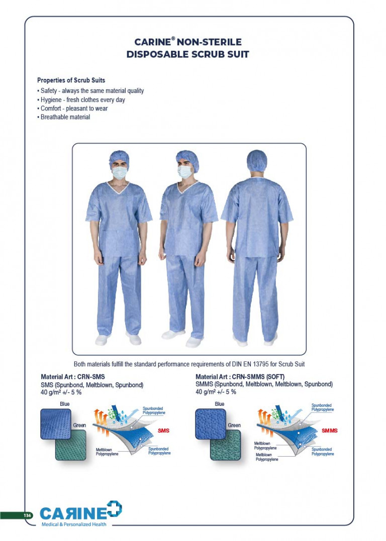 CARINE - STERILE SURGICAL PACK SYSTEMS CATALOGUE-138