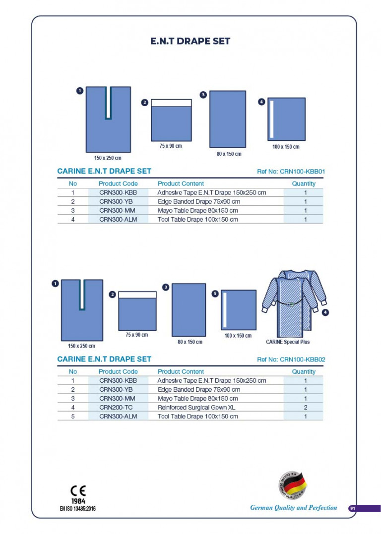 CARINE - STERILE SURGICAL PACK SYSTEMS CATALOGUE-93
