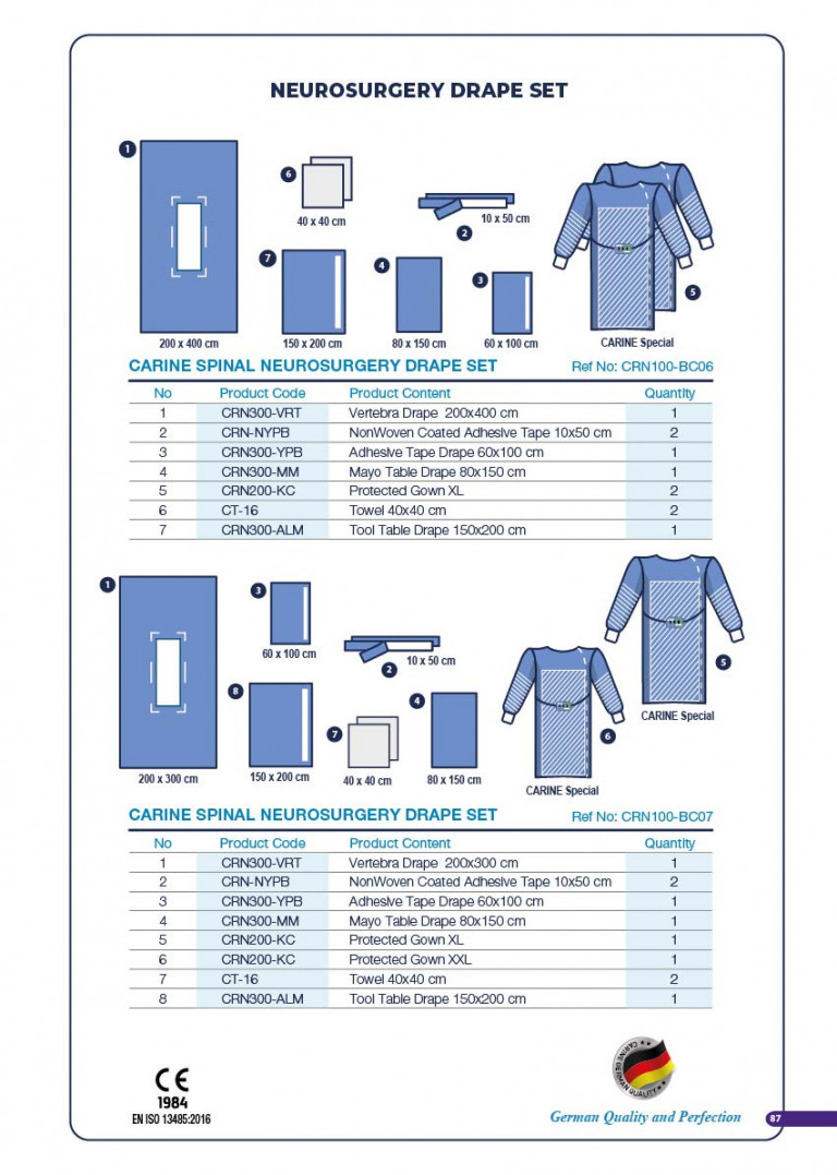 CARINE - STERILE SURGICAL PACK SYSTEMS CATALOGUE-89