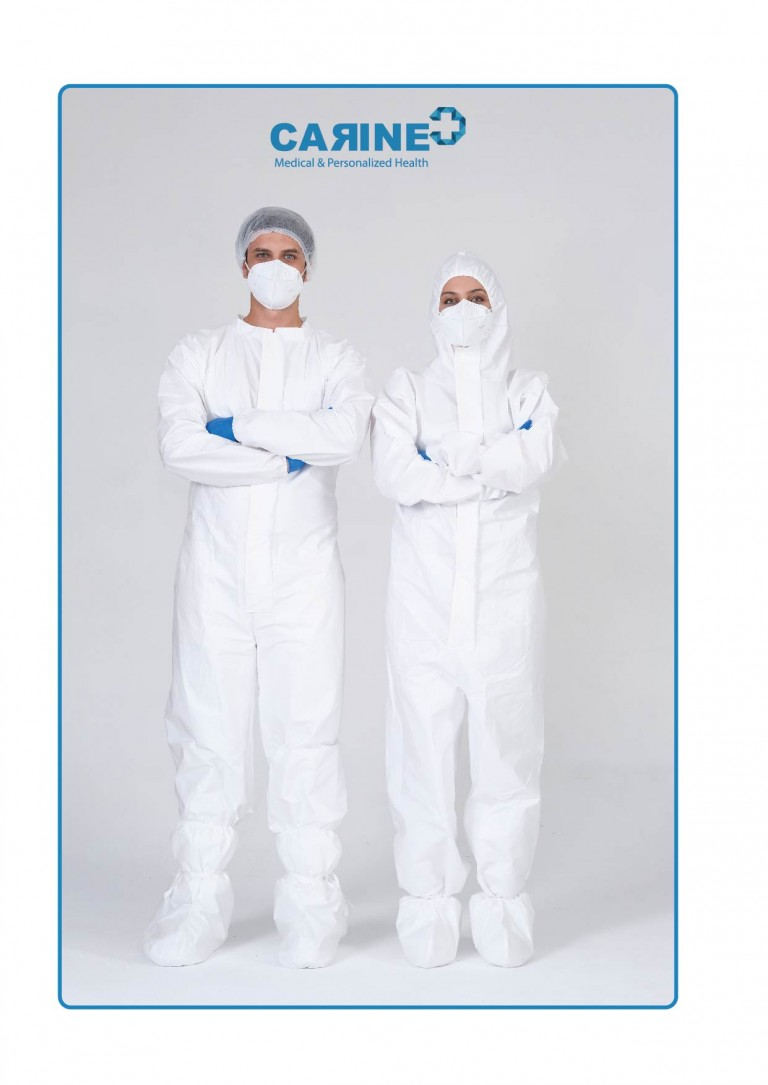 DISPOSABLE PROTECTIVE COVERALL TYPE 5-B 6-B-04