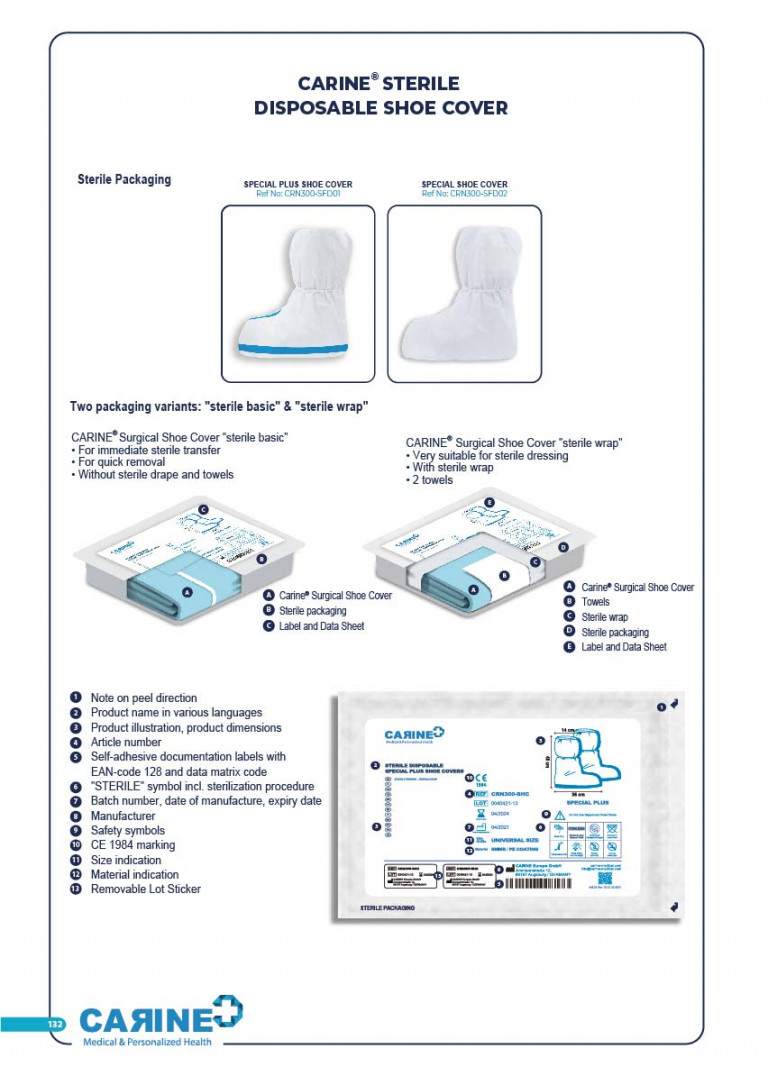 CARINE - STERILE SURGICAL PACK SYSTEMS CATALOGUE-134