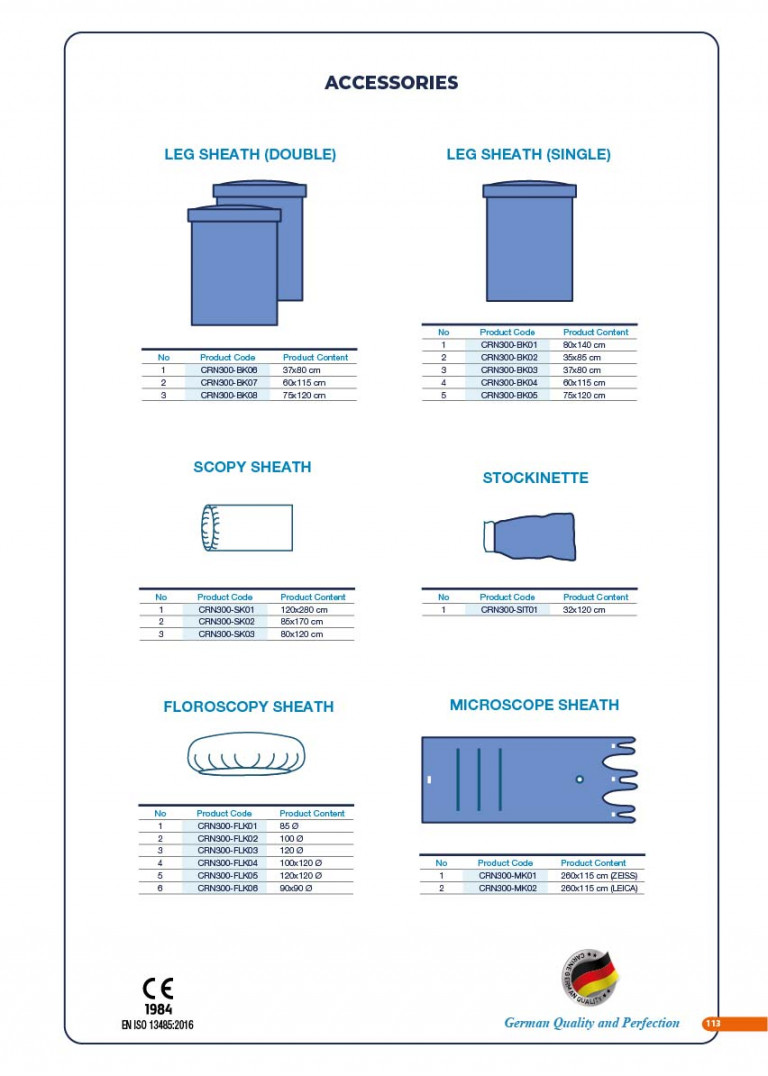CARINE - STERILE SURGICAL PACK SYSTEMS CATALOGUE-115
