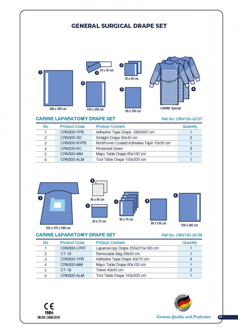 CARINE - STERILE SURGICAL PACK SYSTEMS CATALOGUE-29