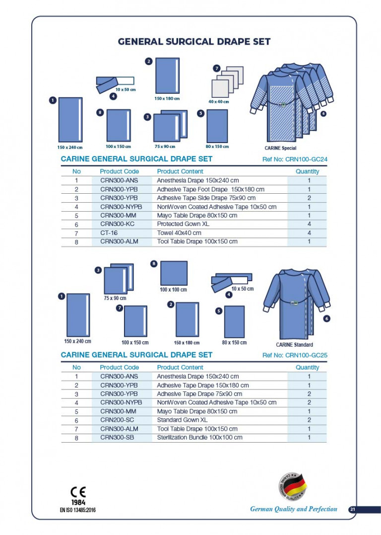 CARINE - STERILE SURGICAL PACK SYSTEMS CATALOGUE-23