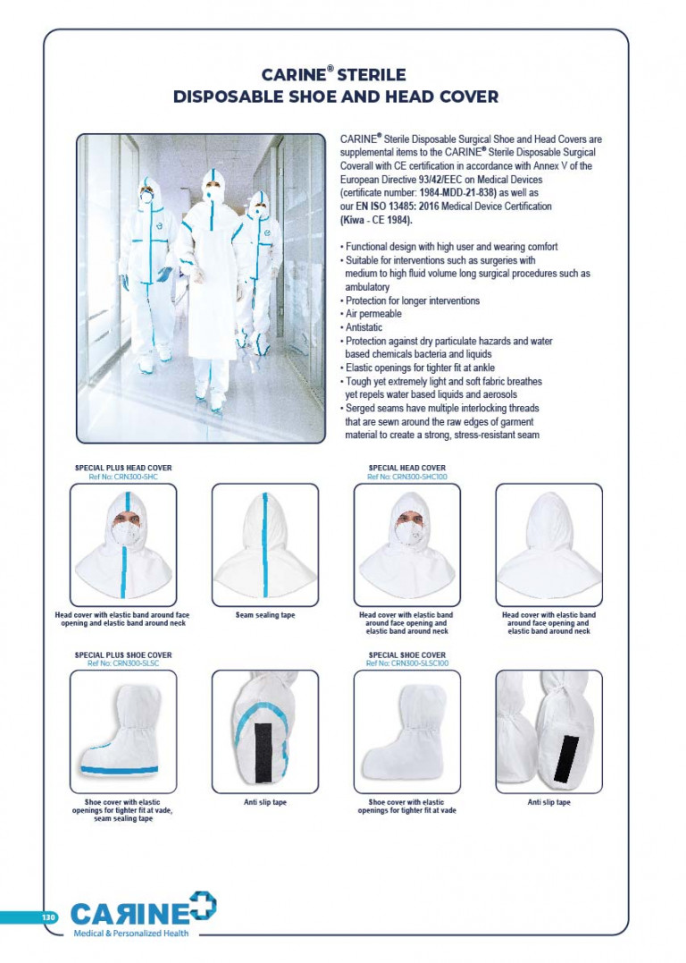 CARINE - STERILE SURGICAL PACK SYSTEMS CATALOGUE-132