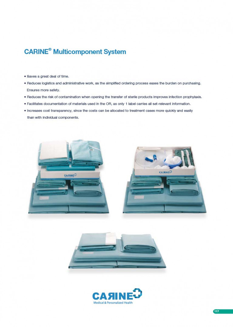 CARINE - STERILE SURGICAL PACK SYSTEMS CATALOGUE-119