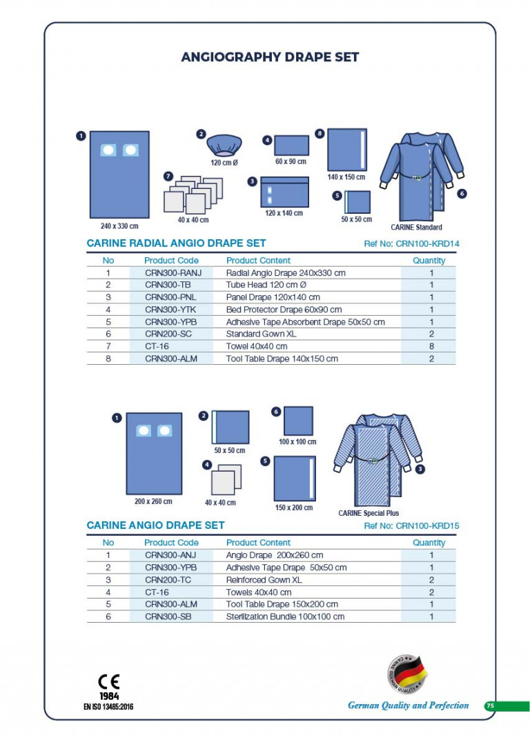 CARINE - STERILE SURGICAL PACK SYSTEMS CATALOGUE-77