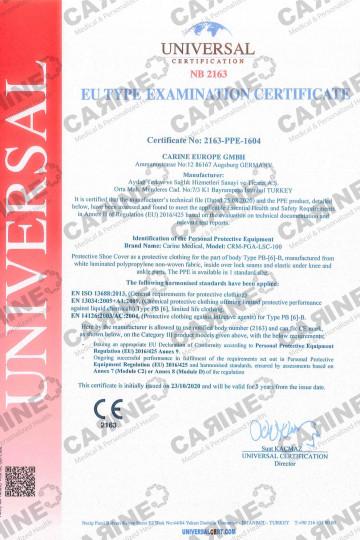 CARINE PROTECTIVE SHOE COVERS TYPE 5B - 6B CRM PGA LSC 100