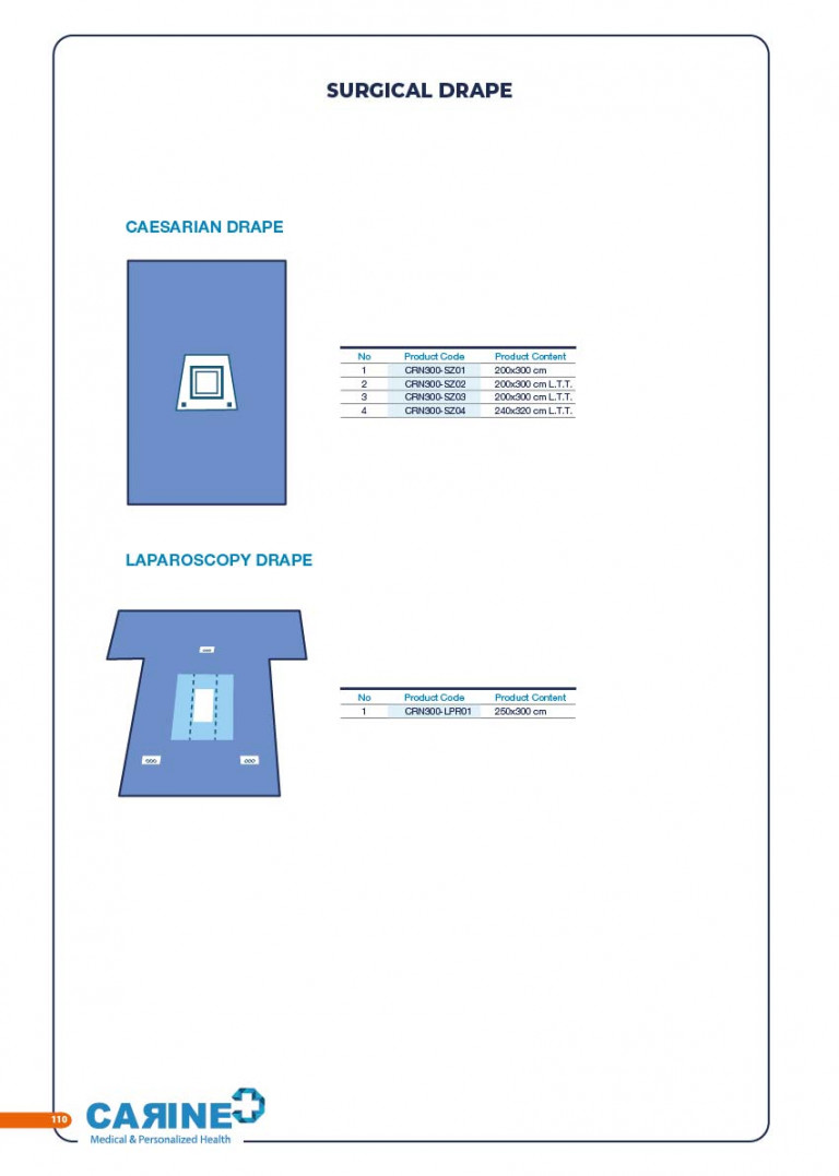 CARINE - STERILE SURGICAL PACK SYSTEMS CATALOGUE-112