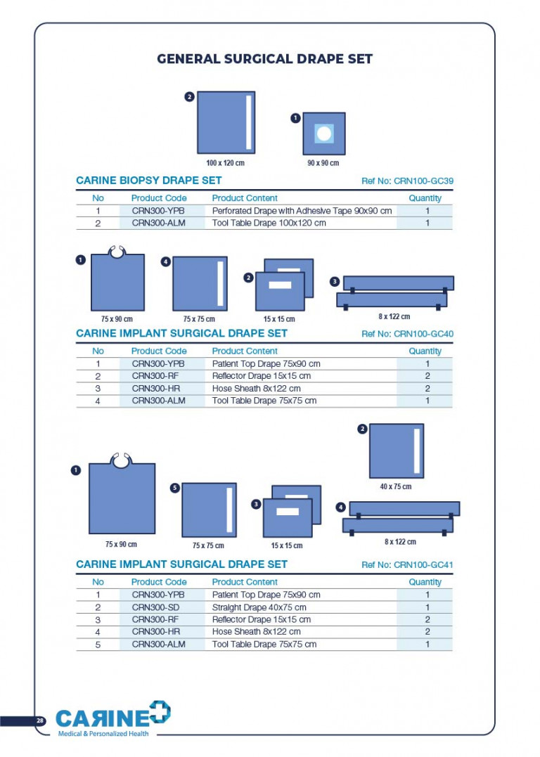 CARINE - STERILE SURGICAL PACK SYSTEMS CATALOGUE-30