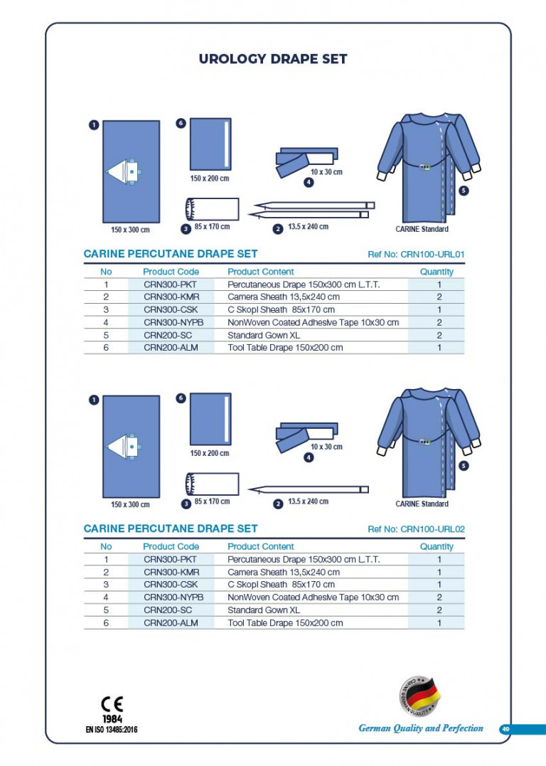 CARINE - STERILE SURGICAL PACK SYSTEMS CATALOGUE-51
