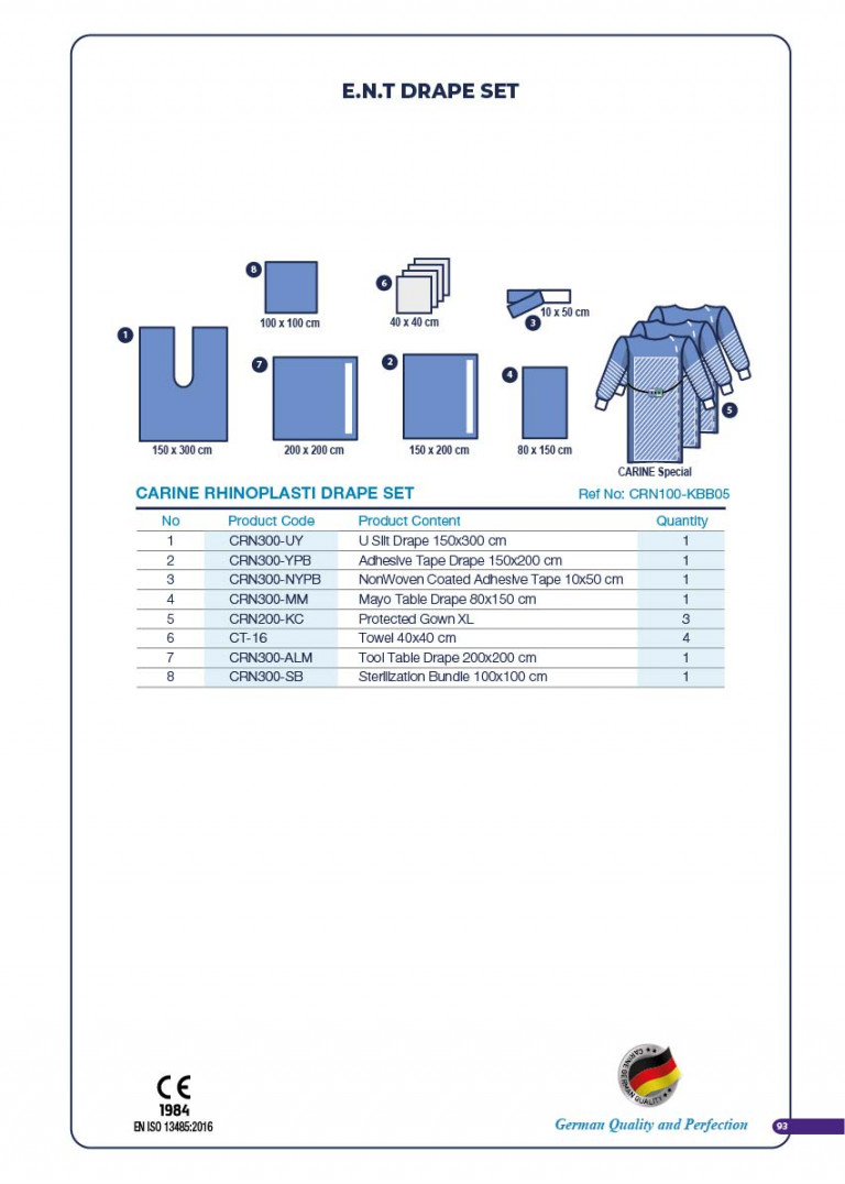 CARINE - STERILE SURGICAL PACK SYSTEMS CATALOGUE-95