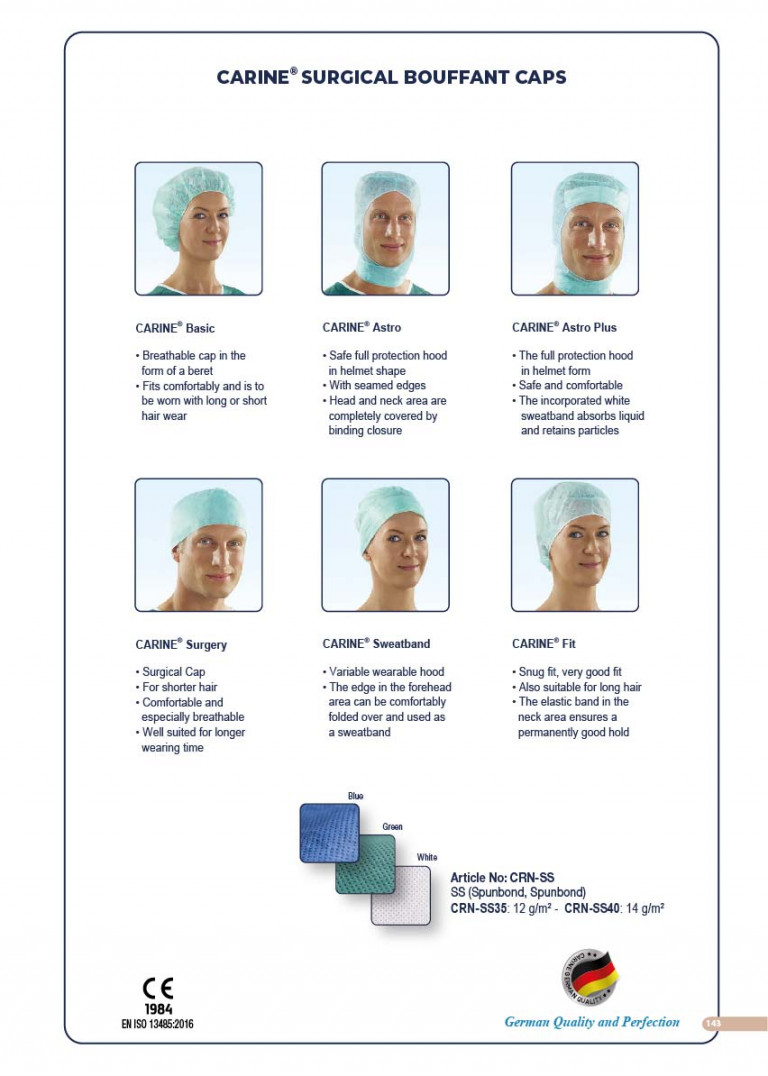 CARINE - STERILE SURGICAL PACK SYSTEMS CATALOGUE-145