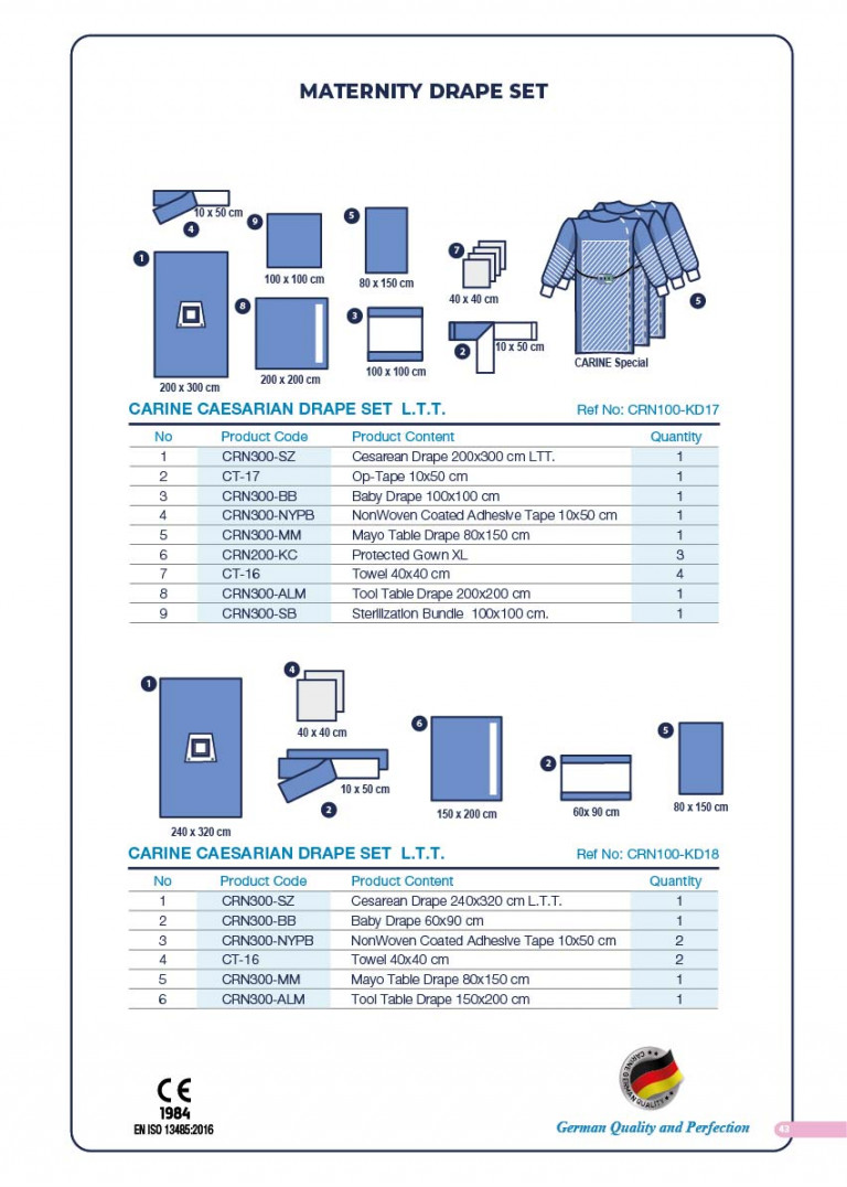 CARINE - STERILE SURGICAL PACK SYSTEMS CATALOGUE-45