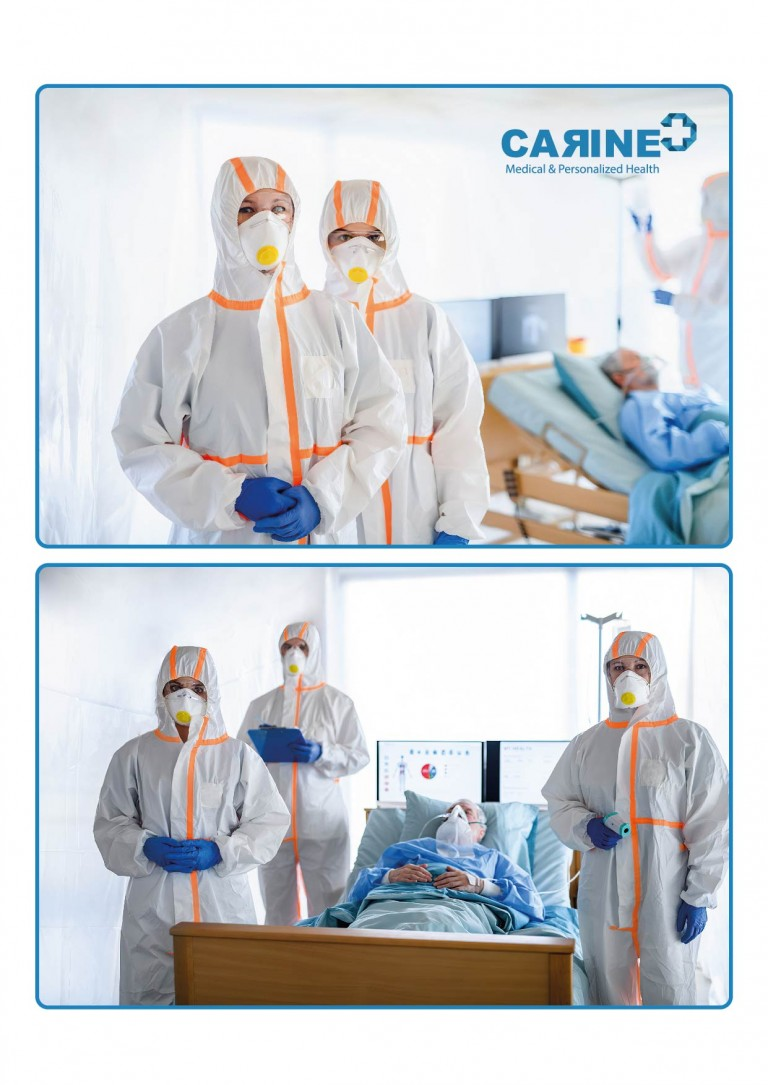 DISPOSABLE PROTECTIVE COVERALL TYPE 3-B 4-B-01