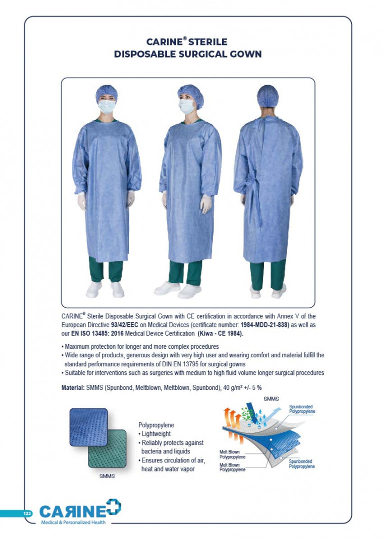 CARINE - STERILE SURGICAL PACK SYSTEMS CATALOGUE-124