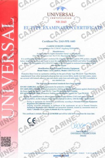 CARINE PROTECTIVE SHOE COVERS TYPE 3B - 4B CRM PGA LSC