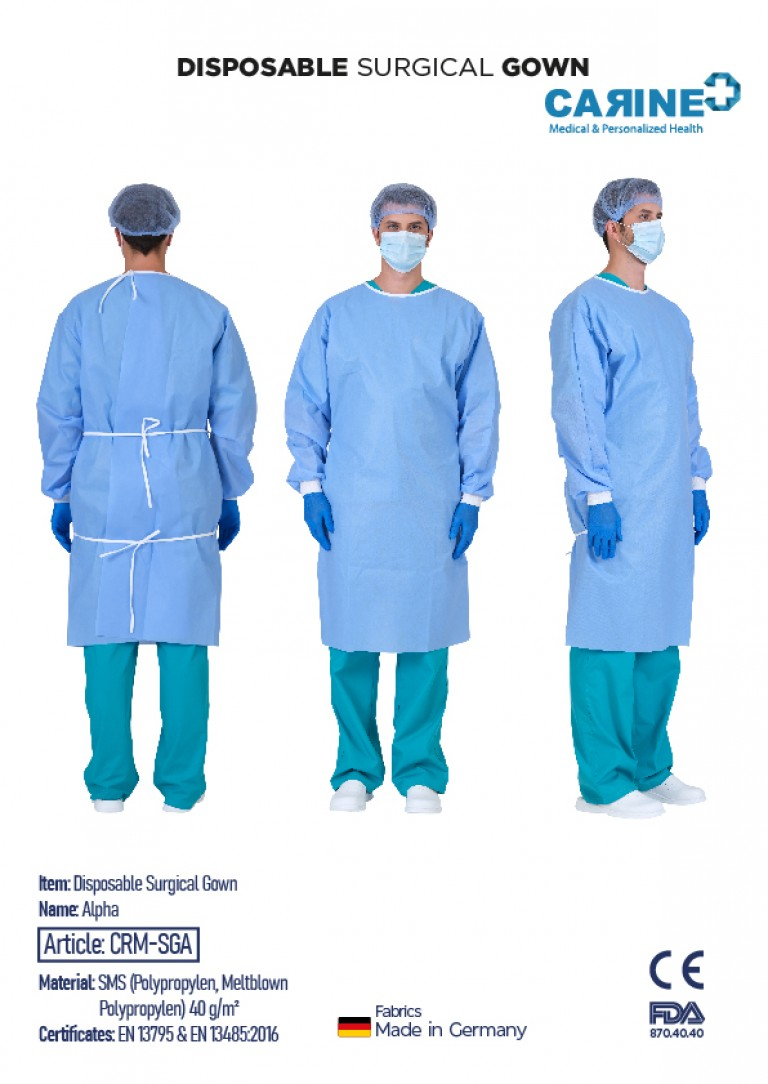 DISPOSABLE SURGICAL GOWN ALPHA-02