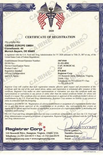 Certificate D407801