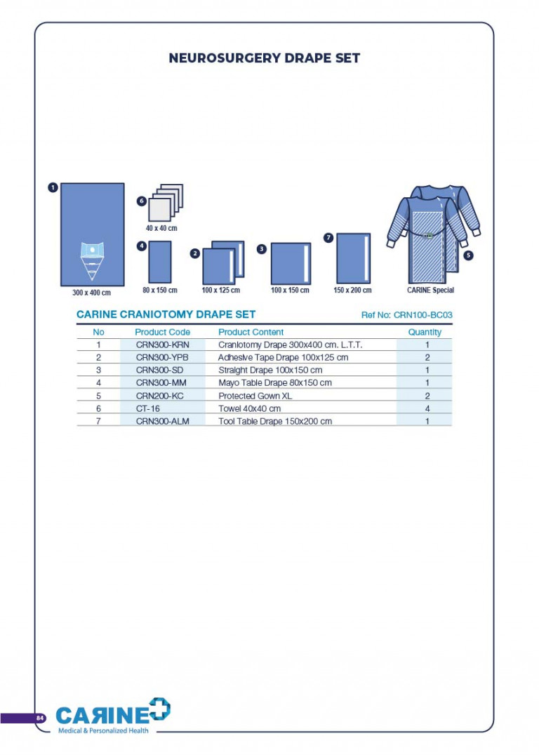 CARINE - STERILE SURGICAL PACK SYSTEMS CATALOGUE-86