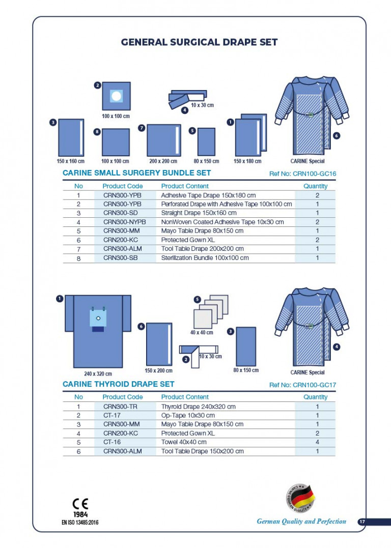 CARINE - STERILE SURGICAL PACK SYSTEMS CATALOGUE-19