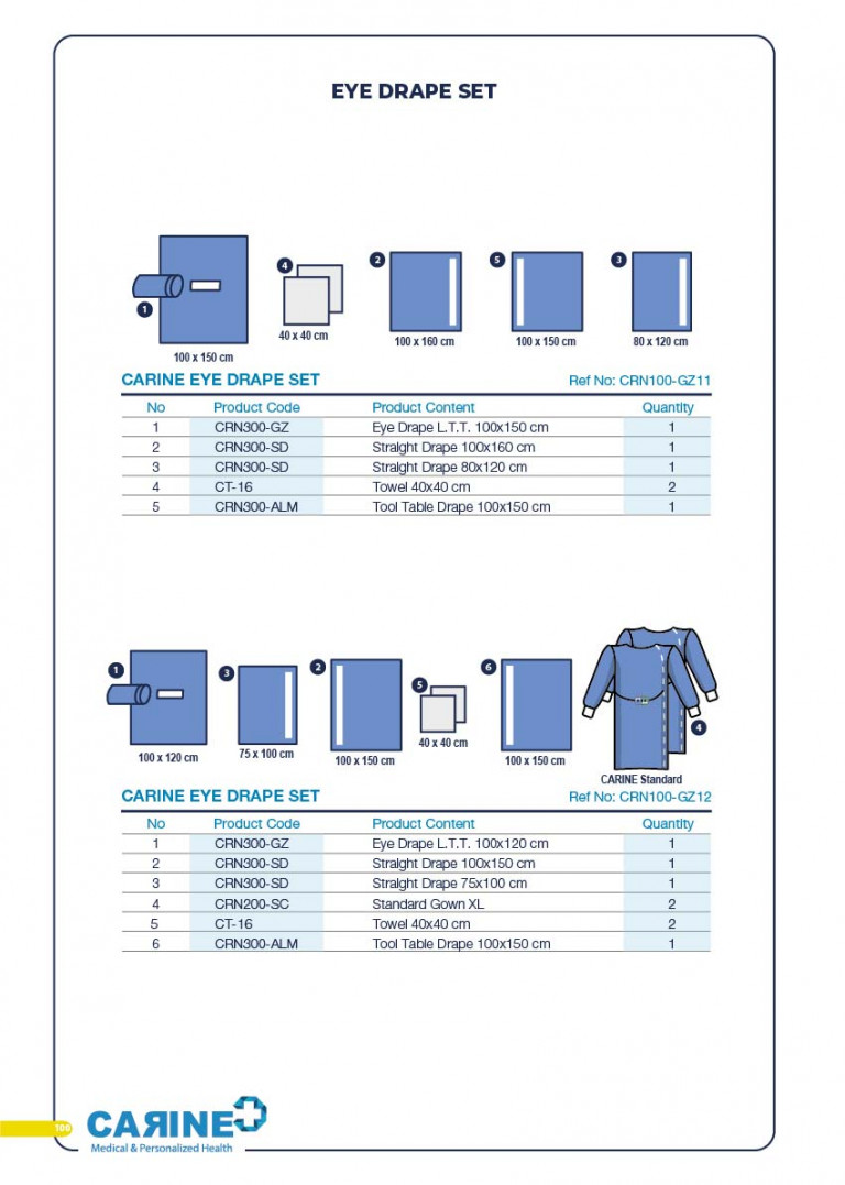 CARINE - STERILE SURGICAL PACK SYSTEMS CATALOGUE-102