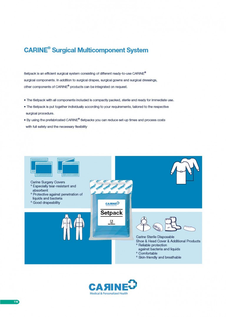 CARINE - STERILE SURGICAL PACK SYSTEMS CATALOGUE-118