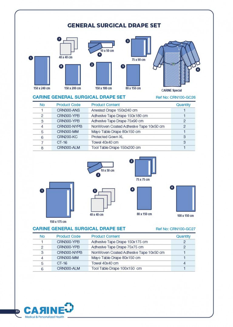 CARINE - STERILE SURGICAL PACK SYSTEMS CATALOGUE-24