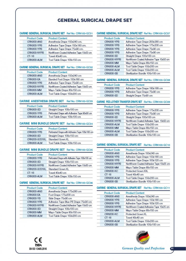 CARINE - STERILE SURGICAL PACK SYSTEMS CATALOGUE-33