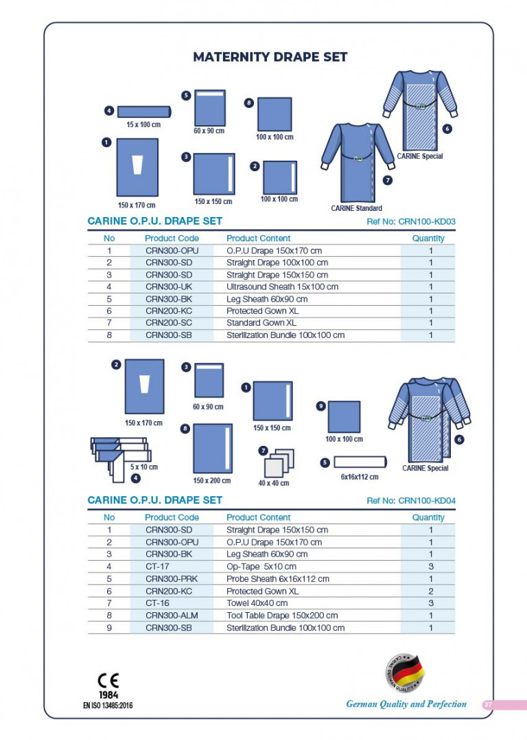CARINE - STERILE SURGICAL PACK SYSTEMS CATALOGUE-39