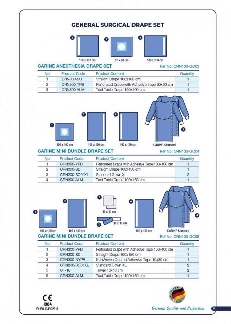 CARINE - STERILE SURGICAL PACK SYSTEMS CATALOGUE-13