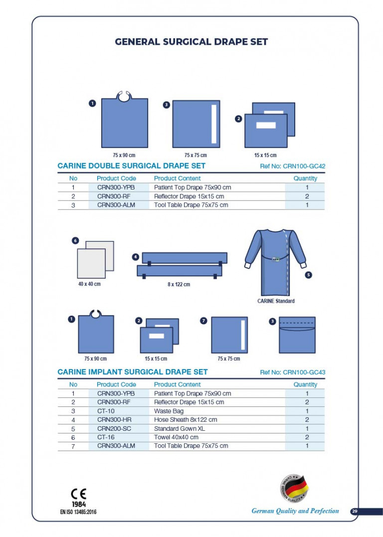 CARINE - STERILE SURGICAL PACK SYSTEMS CATALOGUE-31