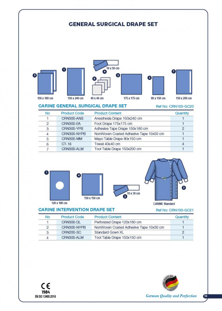 CARINE - STERILE SURGICAL PACK SYSTEMS CATALOGUE-21