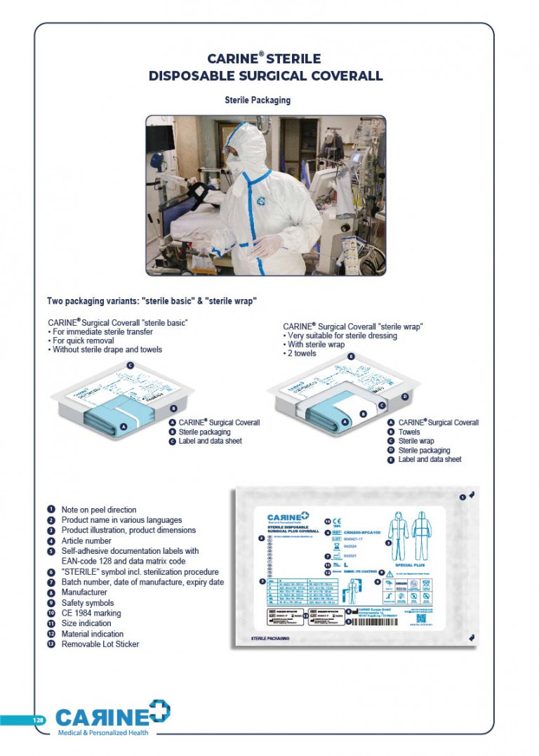 CARINE - STERILE SURGICAL PACK SYSTEMS CATALOGUE-130