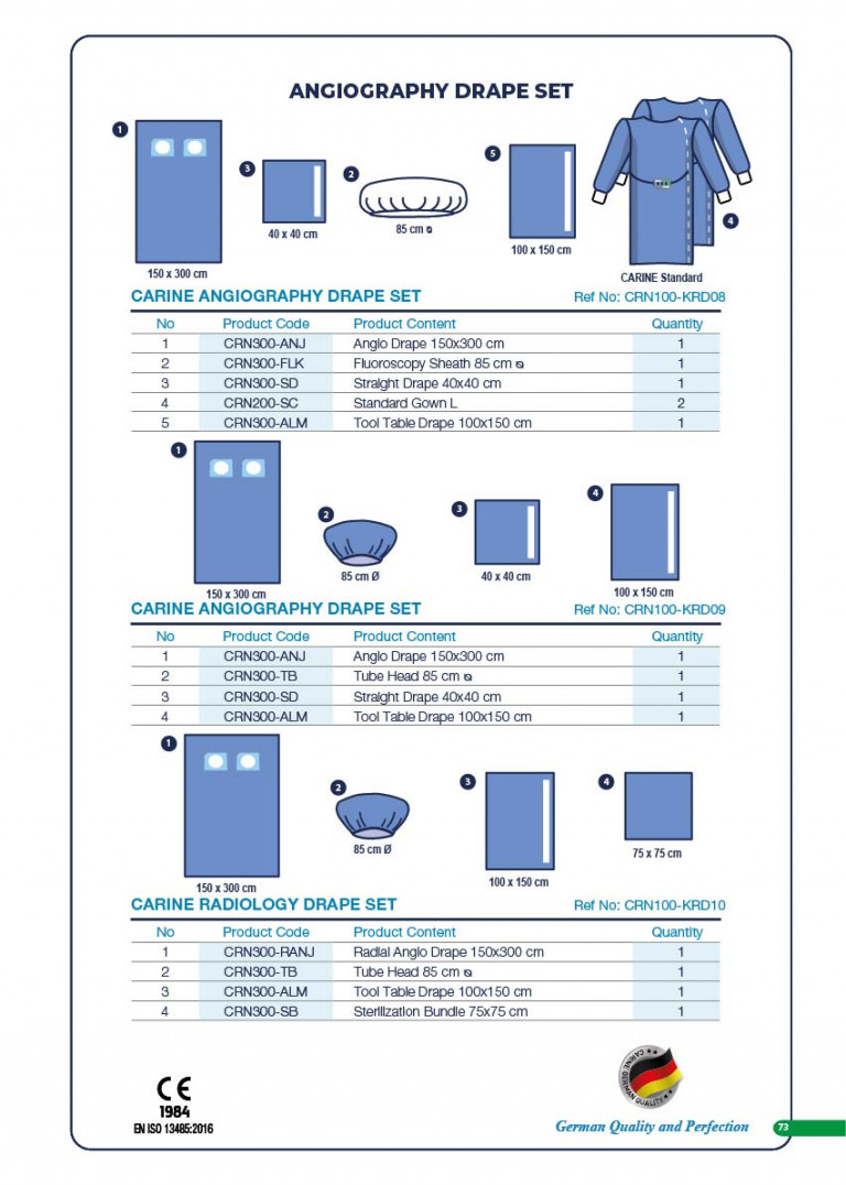 CARINE - STERILE SURGICAL PACK SYSTEMS CATALOGUE-75