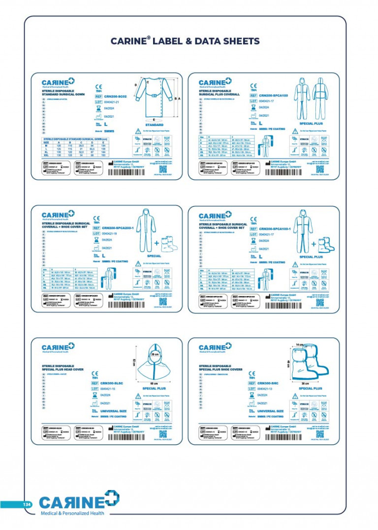 CARINE - STERILE SURGICAL PACK SYSTEMS CATALOGUE-136
