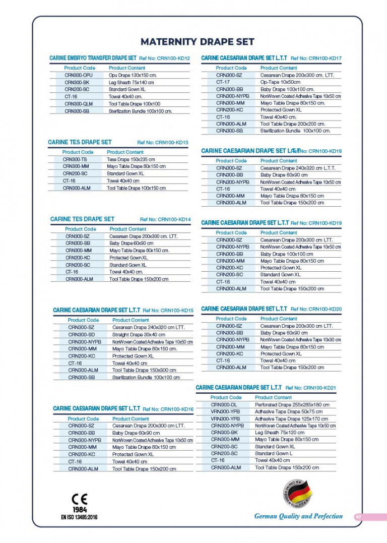 CARINE - STERILE SURGICAL PACK SYSTEMS CATALOGUE-49