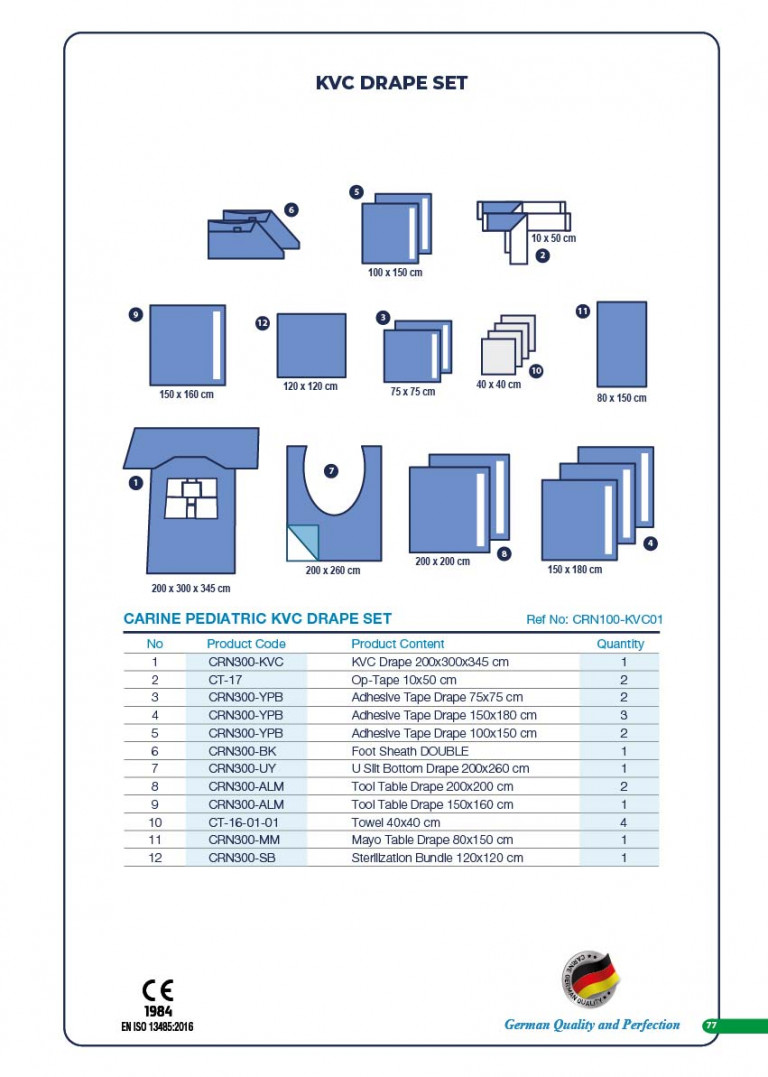 CARINE - STERILE SURGICAL PACK SYSTEMS CATALOGUE-79