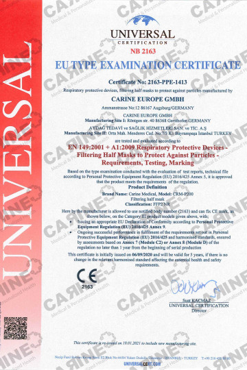 CARINE FACE MASK FFP2 CRM P200