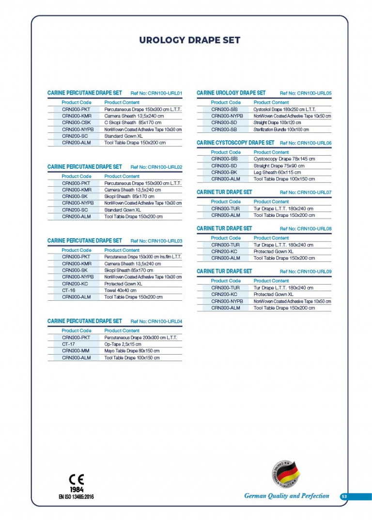 CARINE - STERILE SURGICAL PACK SYSTEMS CATALOGUE-55