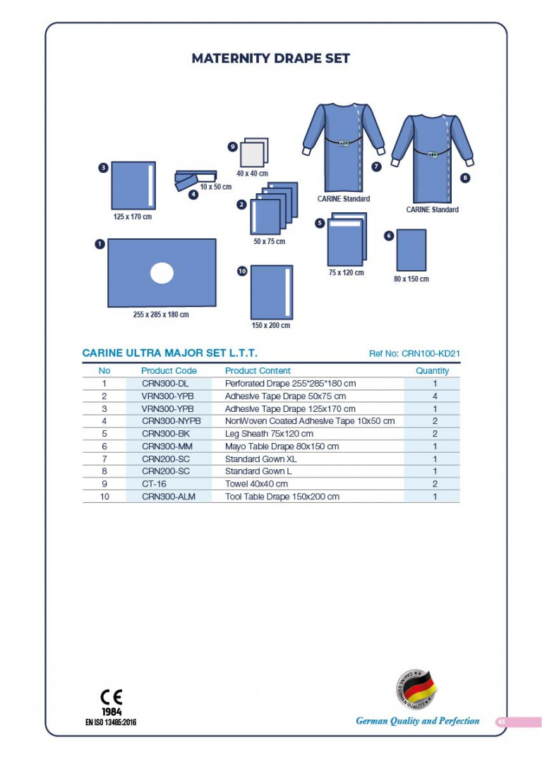CARINE - STERILE SURGICAL PACK SYSTEMS CATALOGUE-47
