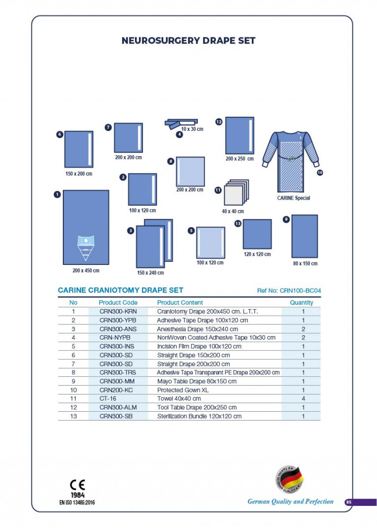 CARINE - STERILE SURGICAL PACK SYSTEMS CATALOGUE-87