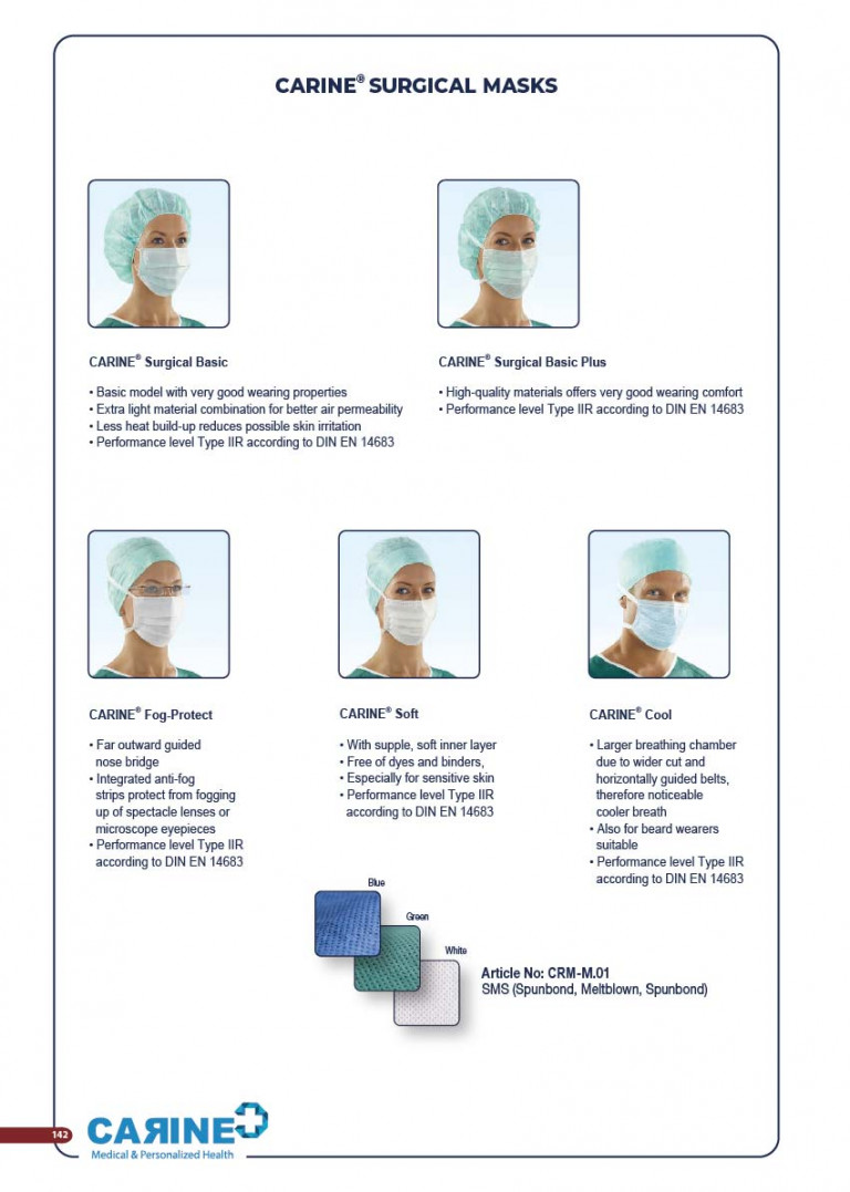 CARINE - STERILE SURGICAL PACK SYSTEMS CATALOGUE-144