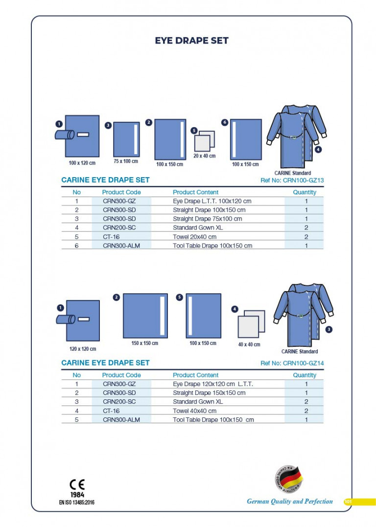 CARINE - STERILE SURGICAL PACK SYSTEMS CATALOGUE-103