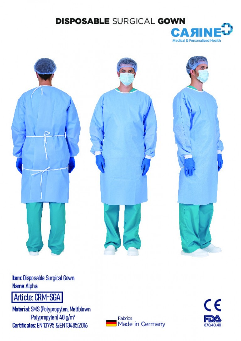 DISPOSABLE SURGICAL GOWN-3